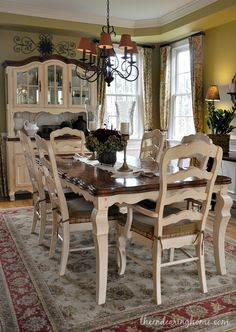 french country dining room set. Top 10 Posts Of 2014  The Endearing Home Pretty Dining Room Dining Room Updates Tabletop Dark And Fabrics