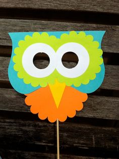 Hooty Owl Party Mask. $1.75, via Etsy.