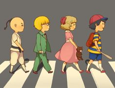 earthbound ness and paula | EarthBound, Abbey, Road, Fourside, Ness, Paula, Jeff, Poo, Mother, 2