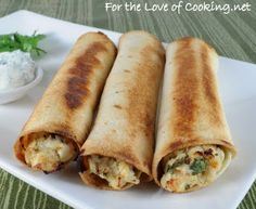 For the Love of Cooking » Creamy Chicken Baked Flautas