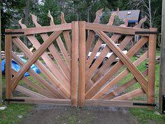 driveway gates wood - Google Search