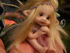 sweet 3inches tiny fairy fairie full sculpt ooak