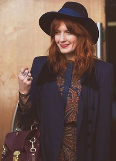 Florence Welch. I love that she's being inspired by 70's