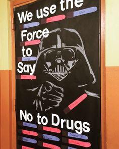 Darth Vader Red Ribbon Week Door