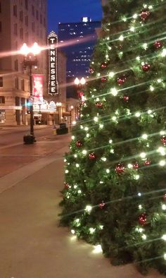 Christmas in Knoxville- so proud!!   I miss home!