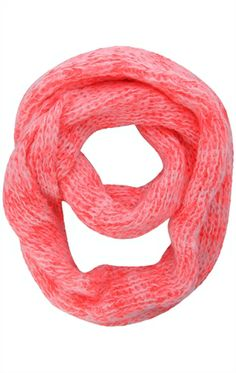 Deb Shops two tone #infinity #scarf with marled dye