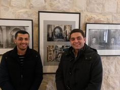 """On 15 March 2016, the French Institute in Nablus hosted a 10 days-exhibition entitled  """"Nablus 100 years ago and Nablus today."""" The exhibition included black and white photos of Nablus taken by the Ecole Biblique et Archeologique  (the school of Bible and Archeology) in Jerusalem. The black and white pictures were put into perspective by Tawfiq Abdalrahim of Project Hope. Tawfiq (left in the picture) took colour pictures of some of the places photographed in black and white."""