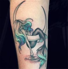 50 Beautiful Mermaid Tattoo Ideas You Need To Try – Page 35 of 50 – Chic Hostess - diy tattoo images - Tatoo Ideen Diy Tattoo, Form Tattoo, Shape Tattoo, Tattoo You, Tattoo Quotes, Body Art Tattoos, New Tattoos, Tatoos, Ocean Tattoos