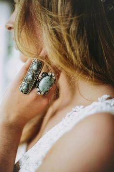 Statement jewelry for wedding