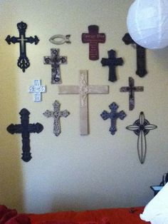 I want to do a cross wall only. All sizes, colors, and styles I think it will be stunning. The more crosses the better!