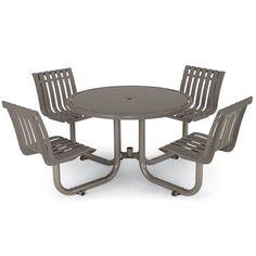 Latitude Table with 4 Contour Seats | Picnic Tables | Upbeat.com