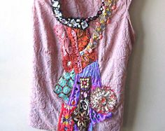SALE Soft Aroma Top Sheer Silk Antique by AllThingsPretty on Etsy