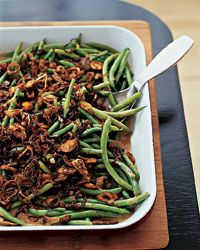 Green Beans with Cremini Mushroom Sauce Recipe from Food & Wine