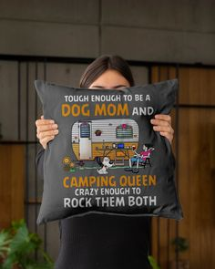 Tough enough to be a dog mom and camping queen tee - Charcoal Grey camping gifts for kids, fun camping, gifts outdoorsman #airstream #cotton #etsyshop, dried orange slices, yule decorations, scandinavian christmas Camping Friends, Camping Gifts, Diy Shirt, Tee Shirts, Yule Decorations, Camping With Kids, Orange Slices, Scandinavian Christmas, Airstream