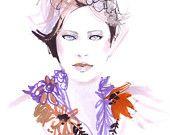 Fashion illustration,  Watercolor Fashion Illustration, Watercolour Painting, Ioana Avram, watercolour, illustration, autumn gift