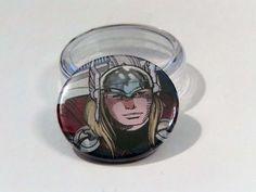 """Comic Book 1.5"""" Button// Thor, $1.00"""