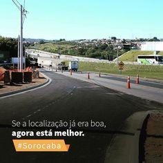 O #Campolim principal localização dos #empreendimentos da #CRB ganhou um novo acesso via Rodovia Raposo Tavares para quem vem via Avenida Pereira Inácio facilitando ainda mais a vida de quem escolhe o bairro para morar!