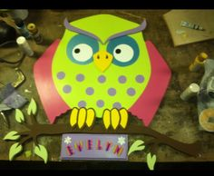 Hand made owl wall hanging made by me. #owlwallhanging