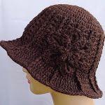 Brimmed crochet hat Free Pattern