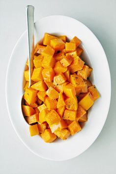 Roasted Butternut Squash Recipe -  used sugar free syrup. It was delicious!