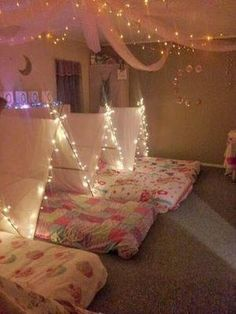 Light Up Teepee Ideas Party Girl Sleepover Girls Birthday Parties Sleep