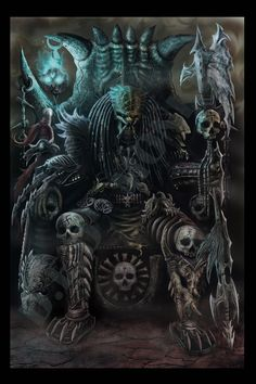Predator Fan art by Eric Yep Alien Vs Predator, Predator Alien, Arte Horror, Horror Art, Alien Creatures, Fantasy Creatures, Dark Fantasy Art, Dark Art, Giger Alien