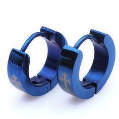 Stud Hoop Mens Earrings