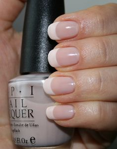 OPI Alone At Last. I like this, but thinner white on the tips.