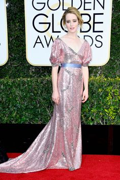 Claire Foy in Erdem attends the 74th Annual Golden Globe Awards at The Beverly Hilton Hotel on January 8, 2017 in Beverly Hills, California.
