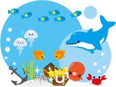 Imágenes de formas marinas. Fiestas infantiles. | Ideas y material gratis para fiestas y celebraciones Oh My Fiesta!