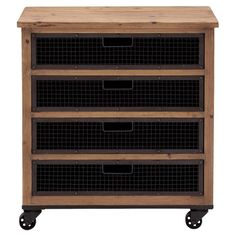 Found it at Wayfair - 4 Drawer Rolling Chest in Brown & Black