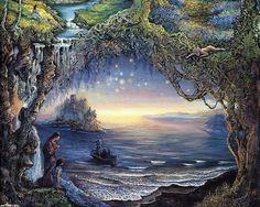 Скачать обои фэнтези, три желания, Josephine Wall 1280x1024