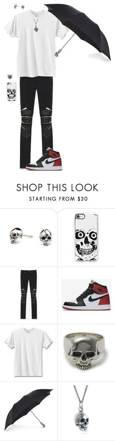 """""""Tokyo Ghoul"""" by kevin-whitcanack on Polyvore featuring Kasun, Casetify, Yves Saint Laurent, NIKE, Hanes, Alexander McQueen, Black Pearl, men's fashion and menswear"""