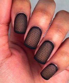 Sheer Matte Polka Dot Nail Art #nails #mani #manicure