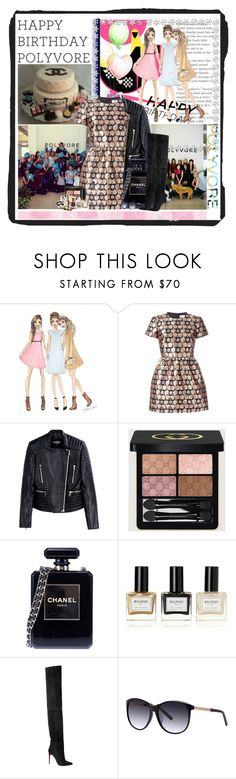 """""""Happy Birthday, Polyvore!...."""" by cindy88 ❤ liked on Polyvore featuring RED Valentino, Balmain, Gucci, Chanel, women's clothing, women, female, woman, misses and juniors"""
