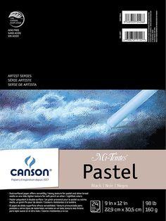 "Amazon.com: Mi-Teintes Pastel Pad, Black 9""X12"" Fold Over: Industrial & Scientific"