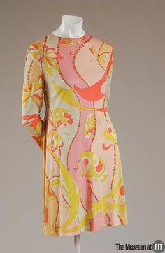 Emilio Pucci 1914-1992  Medium: Multicolor silk jersey Date: c.1965