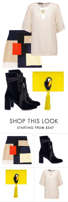 """""""Gehenna Gate"""" by black-wings ❤ liked on Polyvore featuring MSGM, Chloé, Nach Bijoux and Dolce&Gabbana"""