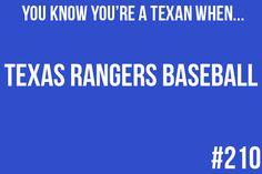 Texas Rangers baseball.