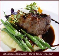 Harris Ranch Tenderloin at the Schoolhouse Restaurant in Arizona