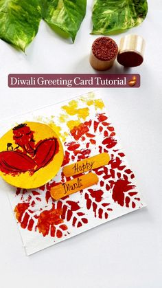 Diwali Greeting Cards, Diwali Greetings, Diwali Food, Indian Home Decor, Ganesha, Indian Art, Home Accents, Painting Inspiration, Diy Gifts