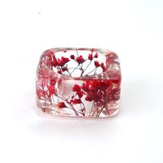 Botanical Pressed Flower Resin Ring