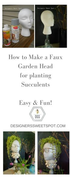Garden head for succulents @designerssweetspot.com