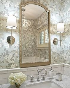 lovely space design in the new powder room Bad Inspiration, Bathroom Inspiration, Bathroom Ideas, Budget Bathroom, Ideas Baños, Transitional Bathroom, Bathroom Renovations, Bathroom Showrooms, Bathroom Makeovers
