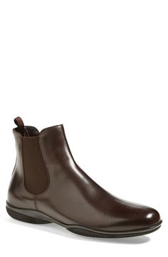 men outfits - Prada 'New Toblak' Chelsea Boot Nordstrom Mens Fashion Casual Shoes, Casual Boots, Fashion Boots, Mens Shoes Boots, Shoe Boots, Men's Boots, Dress With Boots, Dress Shoes, Louis Vuitton Men Shoes