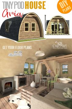 Small and tiny Home plans with cost to build - Pod House Plans Aria Why would you waste money on rent when you can build your very own house? Small home plans with cost to build,… House Plan With Loft, Small House Plans, House Floor Plans, Tiny Home Floor Plans, The Plan, How To Plan, Vintage Abbildungen, Building Costs, Shipping Container House Plans