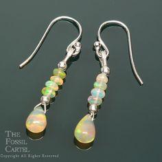 Ethiopian Opal Bead Earrings -
