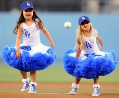 sophia grace and rosie throwing out the first pitch. seriously too cute