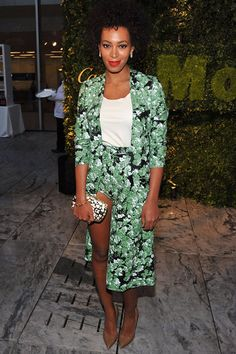 Solange Knowles has always been known for her wild style, but it's clear she's crossed over to the obnoxious side with this hideous floral ensemble at the 2012 Party in the Garden benefit at the Museum of Modern Art in New York City last night. Is that shorts, a skirt, skorts?! OK, we get it -- you're not Beyonce … but there are other way to distinguish yourself without looking straight-up foolish. Check out Solange's worst style offenses. http://insdr.co/KV3blt