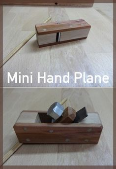 Step-by-step instructions for a mini hand plane. #woodworking